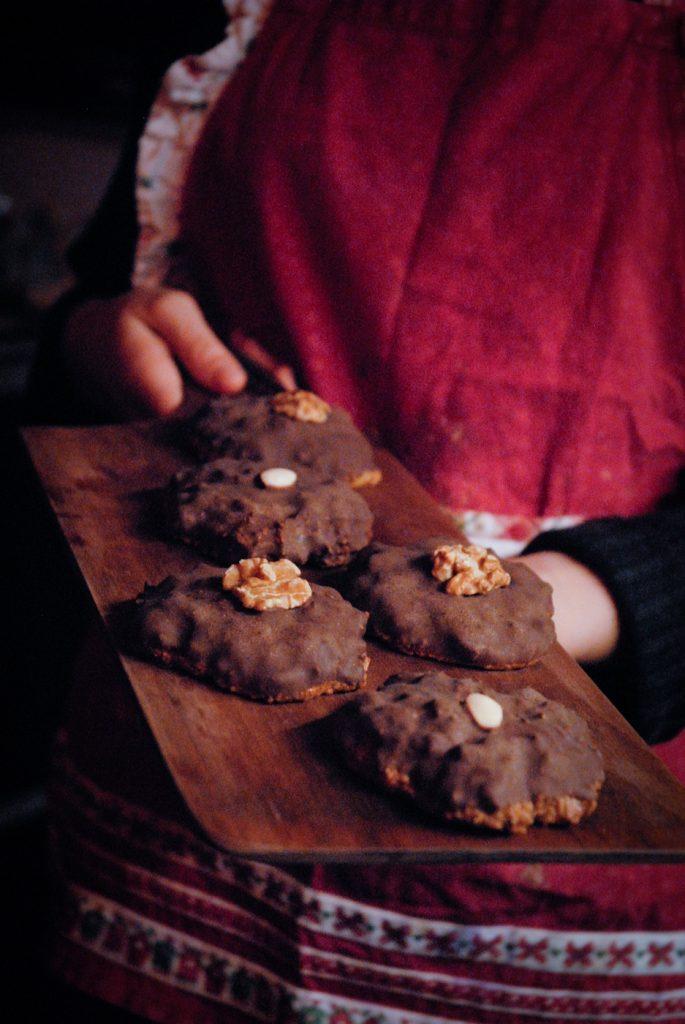 Kekse auf Tablett