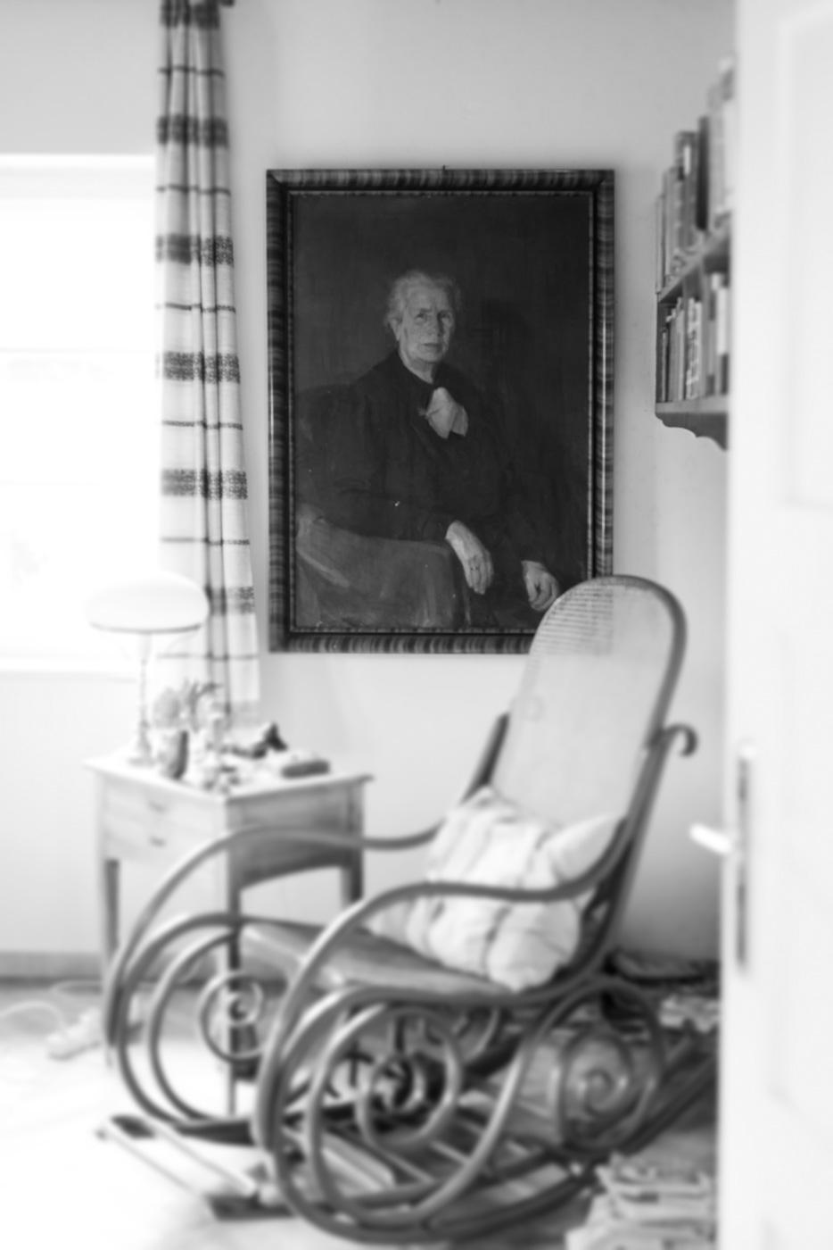 Schriftsteller Alfred Komarek Schaukelstuhl